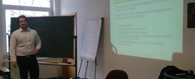 Philipp Schulz beim MPU Seminar in Korbach